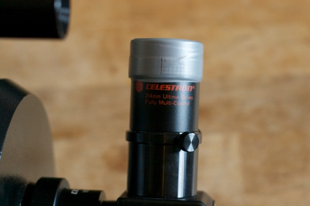 24mm Celestron eyepiece with electrical tape